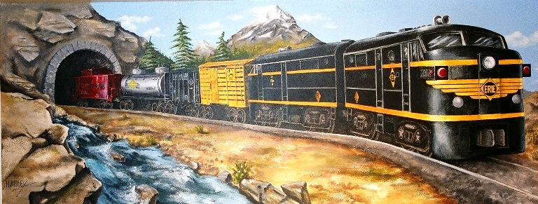 Train Mural 6 ft. x 15 ft.